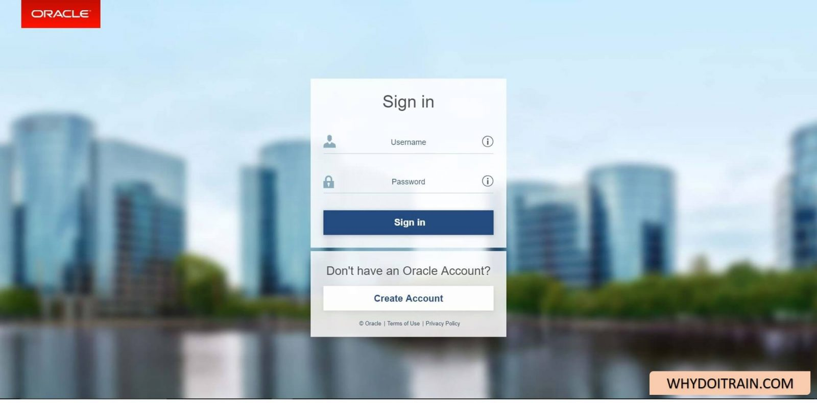 Login or Signup to Oracle Software Delivery Cloud
