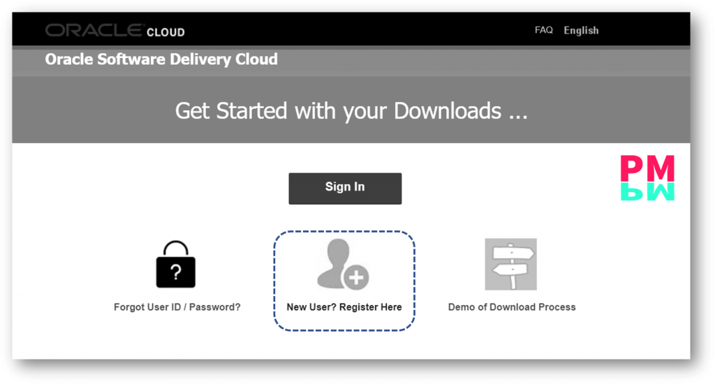 First of all, go to Delivery cloud and register you new account at Oracle official website
