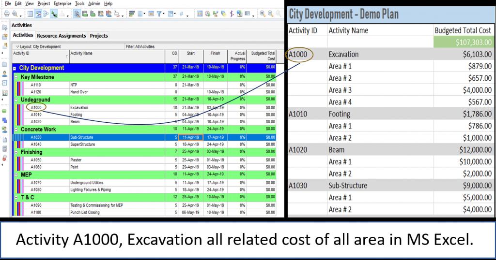 How to Assign Cost in Primavera P6 Microsoft Excel Import Export 1