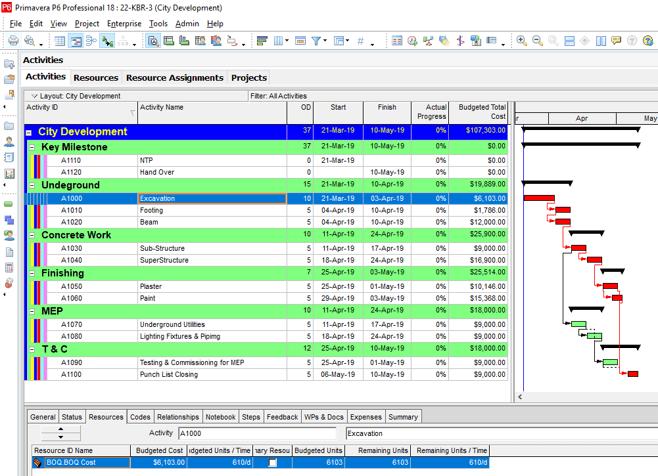 Cost Loading in Primavera P6 through Microsoft Excel